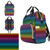 Rainbow Stripe Nappy Changing Bag