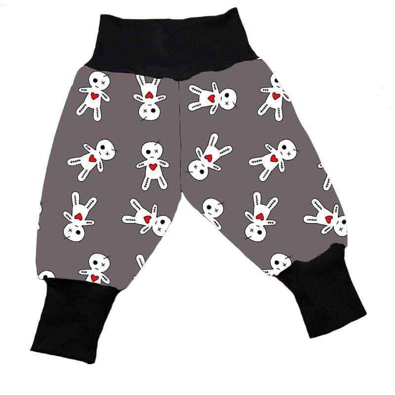 Grey Voodoo Teddy Jersey Harem Trousers