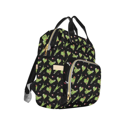 Zombie Hearts Nappy Changing Bag