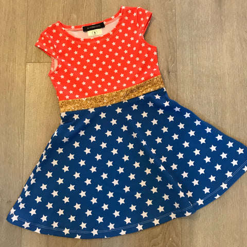 Wonder Woman Inspired Girls Dress