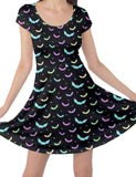 Ladies Pastel Bats Gothic Skater Dress
