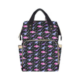 Black Tattoo Dinosaur Nappy Changing Bag