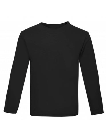 Plain Long Sleeved Black Top