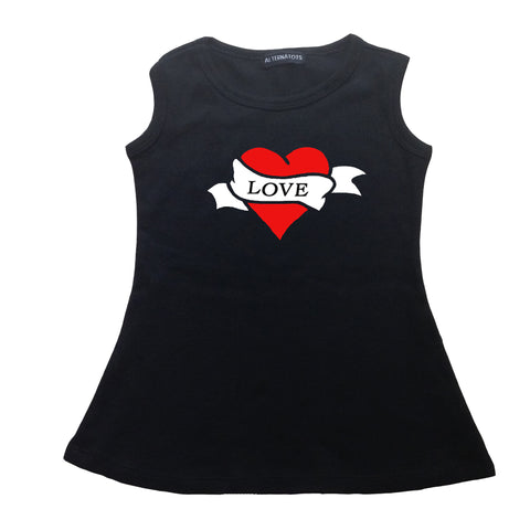 Tattoo Love Heart Tank Dress