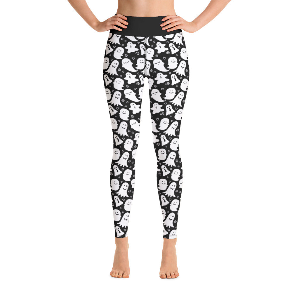 Ghost Print Ladies Long Yoga Leggings