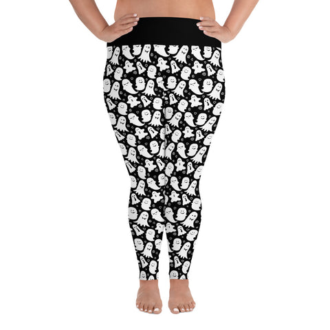 Cute Ghost Print All-Over Ladies Print Plus Size Leggings