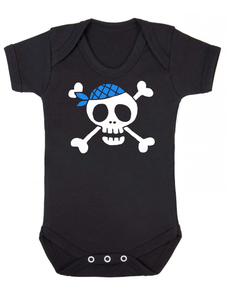 Pirate Skull with Bandana Baby Vest