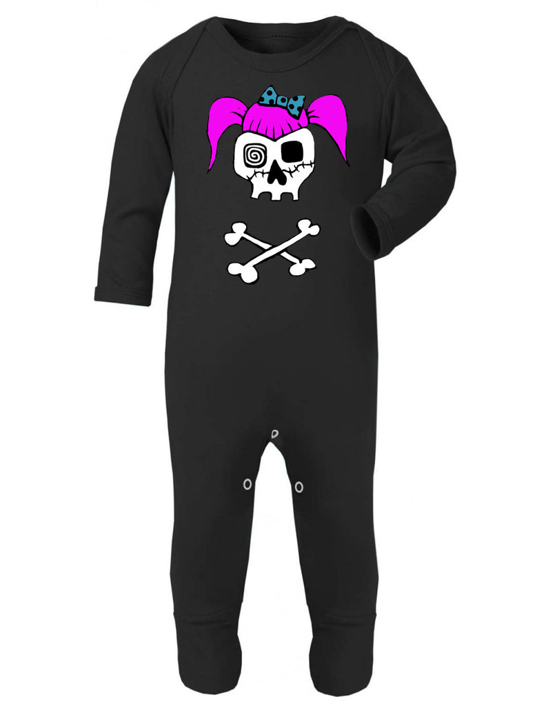 Rockabilly Girl Skull Sleepsuit