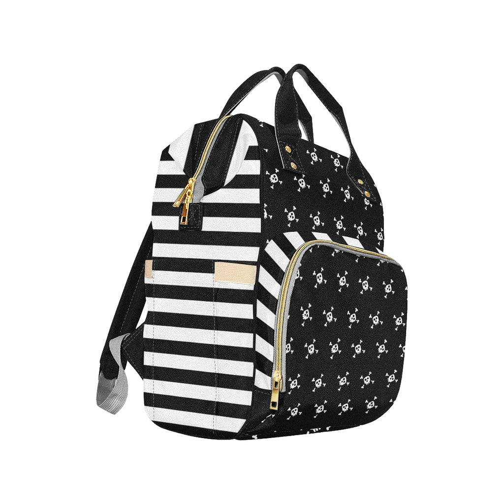 Skull and Stripe Nappy Changing Bag