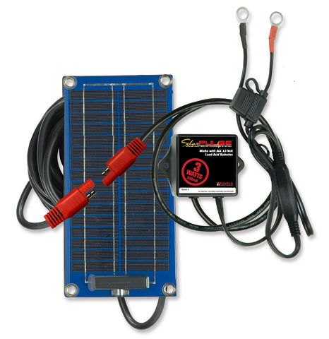 3-Watt SolarPulse 12V Solar Battery Charger Maintainer