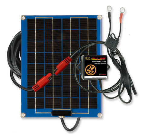 12-Watt SolarPulse 12V Solar Battery Charger Maintainer