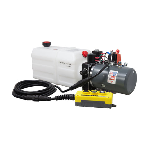 6 Quart 12V KTI Single & Double Hydraulic Pump