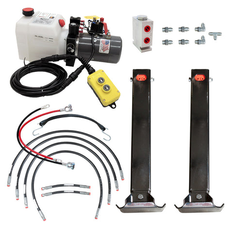 Power Jack 12K Double Hydraulic Trailer Jack Kit | PJC-2-K
