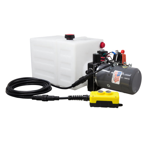 13 Quart 12V KTI Double Acting Hydraulic Pump