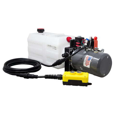 6 Quart 12V KTI Double Acting Hydraulic Pump
