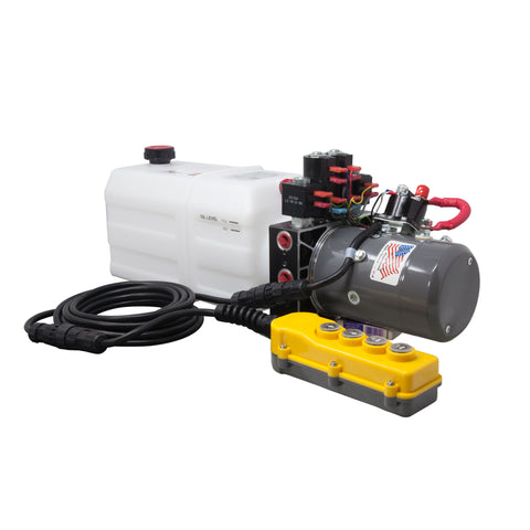 Dual Double-Acting Hydraulic Pump with Remote