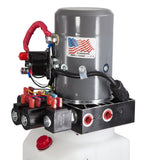 6 Quart 12V KTI Dual-Double Acting Hydraulic Pump