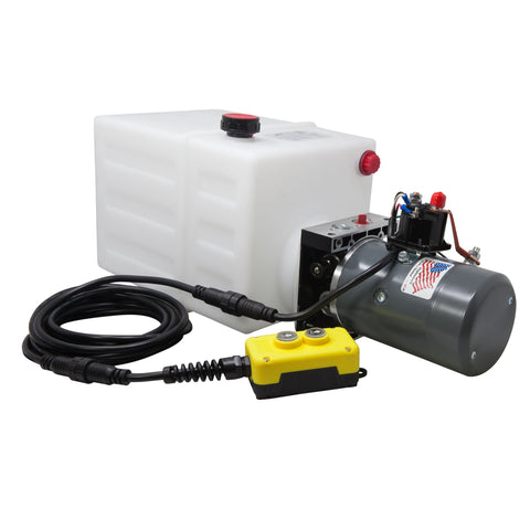 13 Quart 12V KTI Single Acting Hydraulic Pump