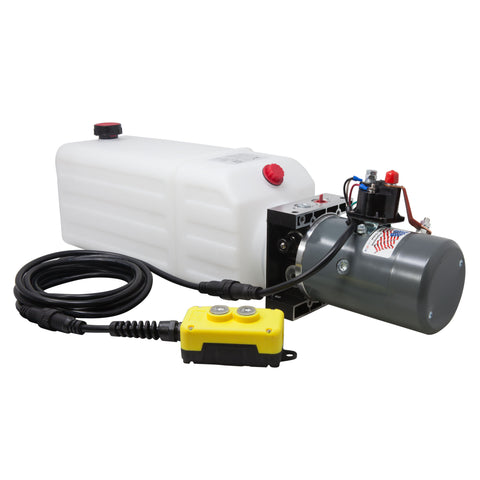 12v Single Acting Hydraulic Pump with 8 Quart Reservoir