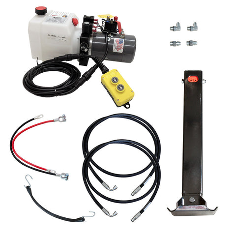 Power Jack 12K Single Hydraulic Trailer Jack Kit | PJC-1-K