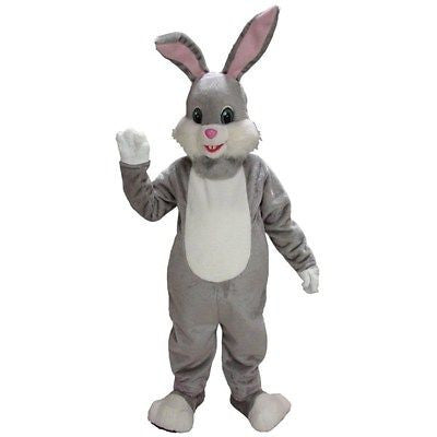 Gray Rabbit Mascot Costume