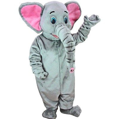 Asian Elephant Mascot Costume