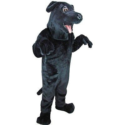 Black Lab Dog Mascot Costume