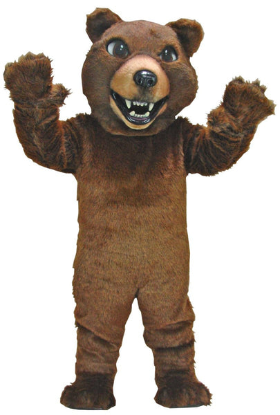Brown Grizzly Mascot Costume
