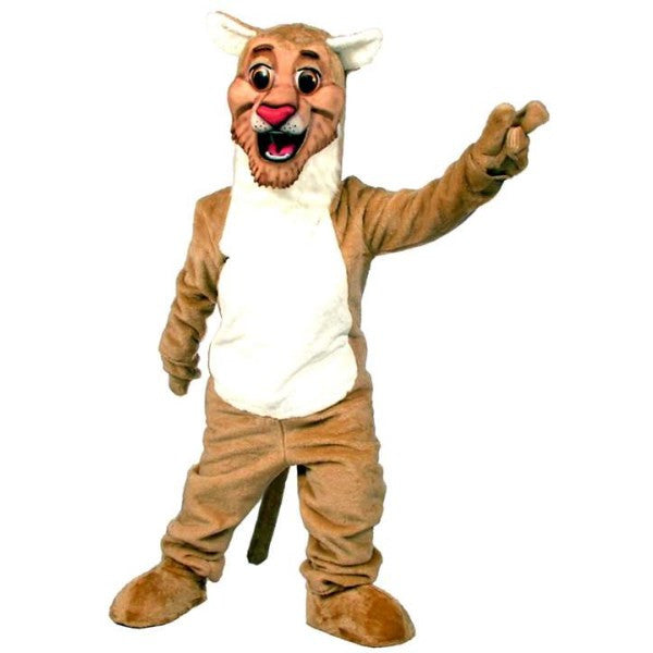 Happy Cougar Mascot Costume