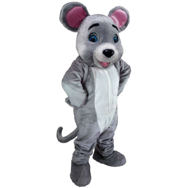 Happy Gray Mouse Lightweight Mascot Costume