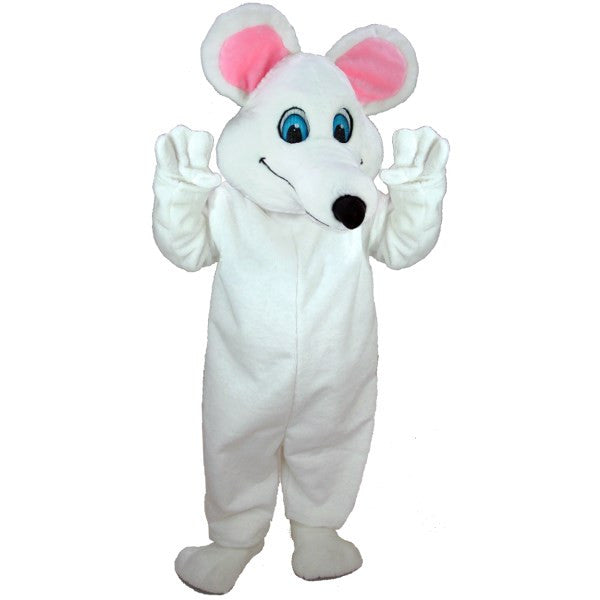 White Mouse Lightweight Mascot Costume