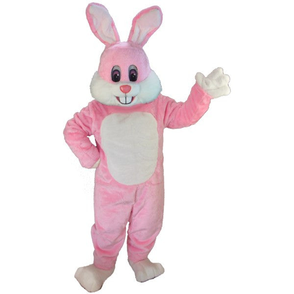 Pink Toon Rabbit Lightweight Mascot Costume