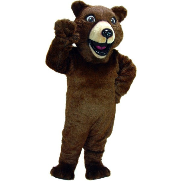 Happy Grizzly Bear Mascot Costume