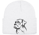 Cane Corso Natural Ears Knit Ski Hat