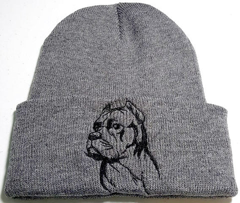 Cane Corso Cropped Ears Knit Ski Hat
