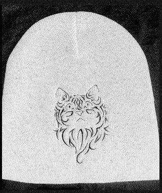 Cat Design1 Knit Ski Hat