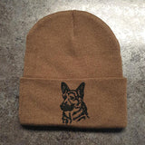 German Shepherd Knit Ski Hat