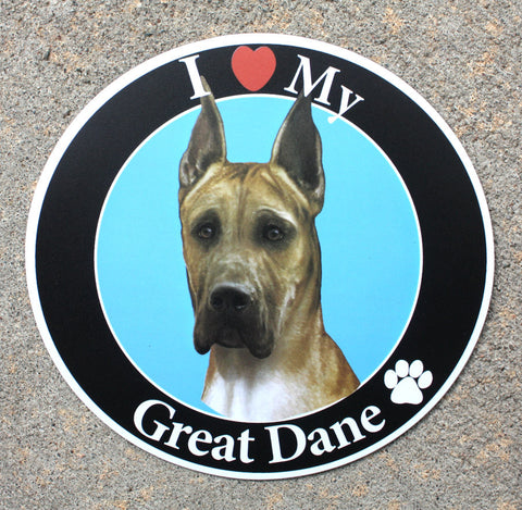 Great Dane Car Magnet