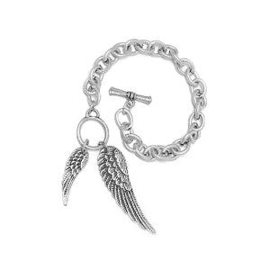 Angel Wings Rhodium / Gold Plated Bracelet (free shipping in USA)