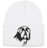 Bearded Collie Knit Ski Hat