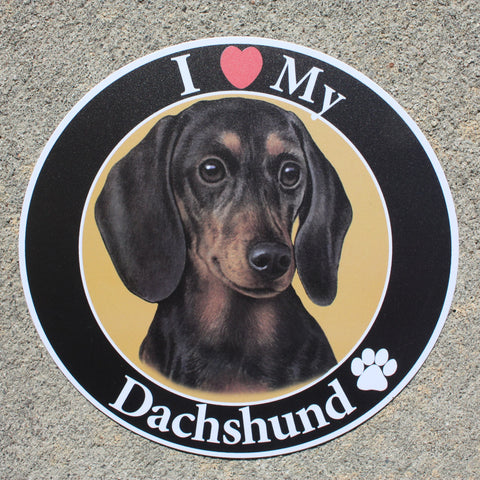 Dachshund (Black and Tan) Car Magnet