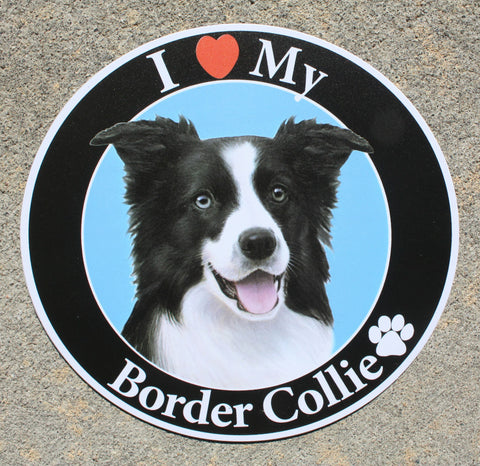 Border Collie Car Magnet