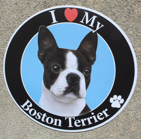 Boston Terrier Car Magnet