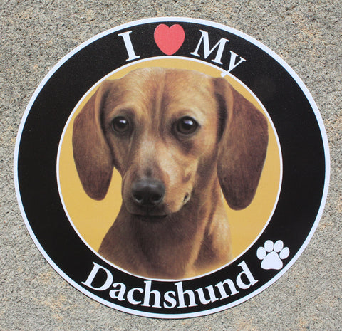 Dachshund (Red) Car Magnet