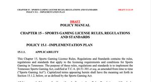 Tennessee Releases Draft Rules for Sports Betting. What Do They Say?