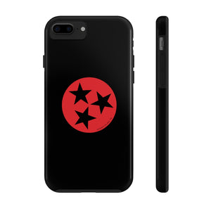 Red/Black Tristar Phone Case