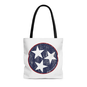Red/Blue Tristar Tote
