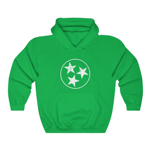 Traditional White Tristar Hoodie