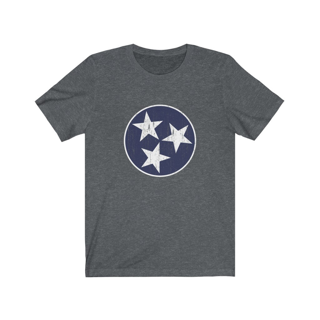 Traditional Blue/White Tristar Tee