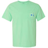 615 Area Code Pocket Tee - Mint Comfort Colors
